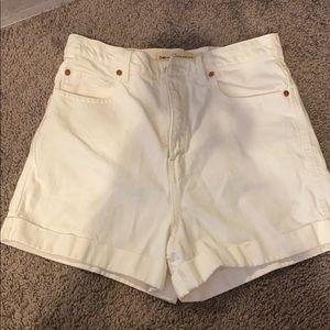 Gap super high rise denim shorts